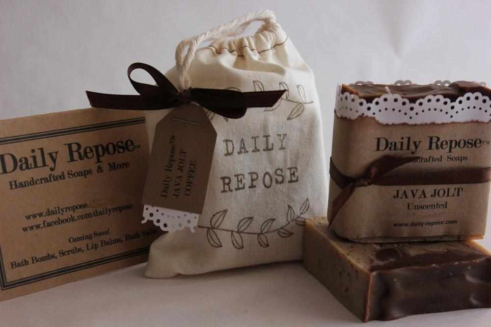 Coffee Soap 100% Natural Handmade in Bag with Tag Vegan
