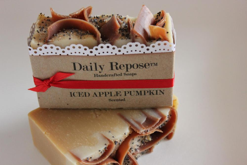 ICED APPLE Pumpkin Soap Scented Bath Hand Bar Vegan Natural Cold Process